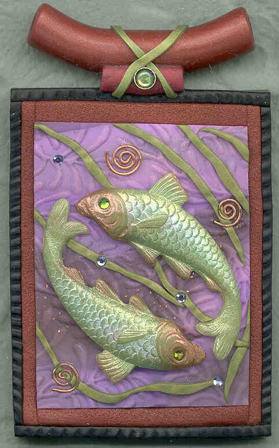 Loco lobo designs jewelry components gallery polymer for Green koi fish for sale